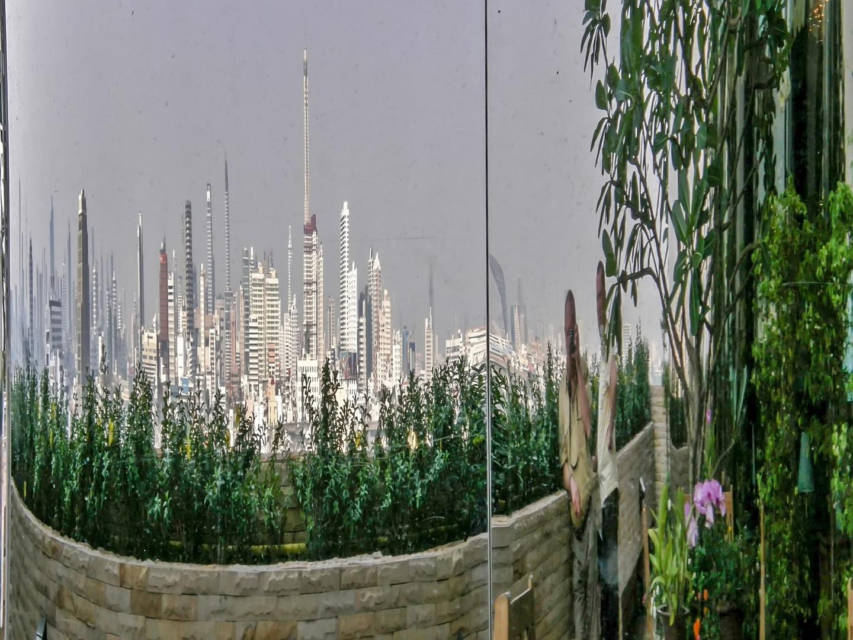 Die Skyline als Spiegelbild