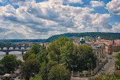 Die Skyline von Prag