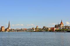 Die Skyline von Rostock vom Gehlsdorfer Ufer