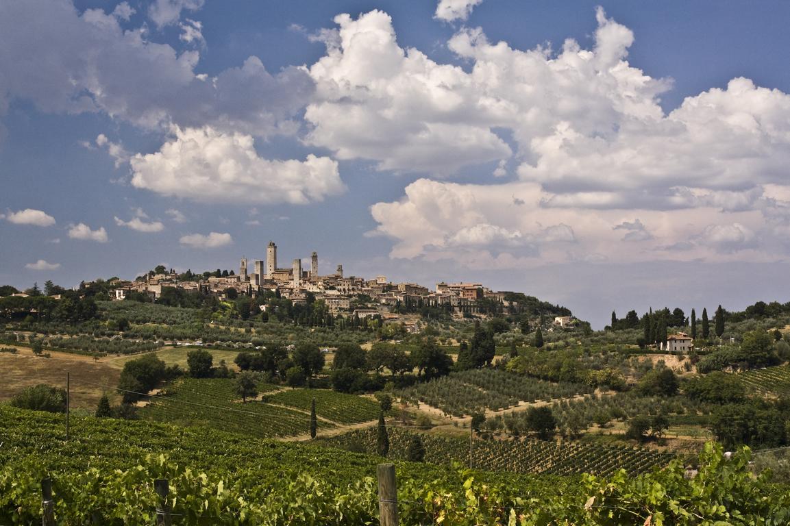 Die Skyline von San Gimignano