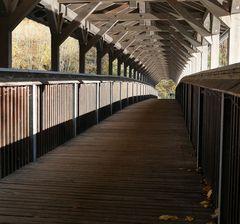 Die so genannte Holzbrücke...