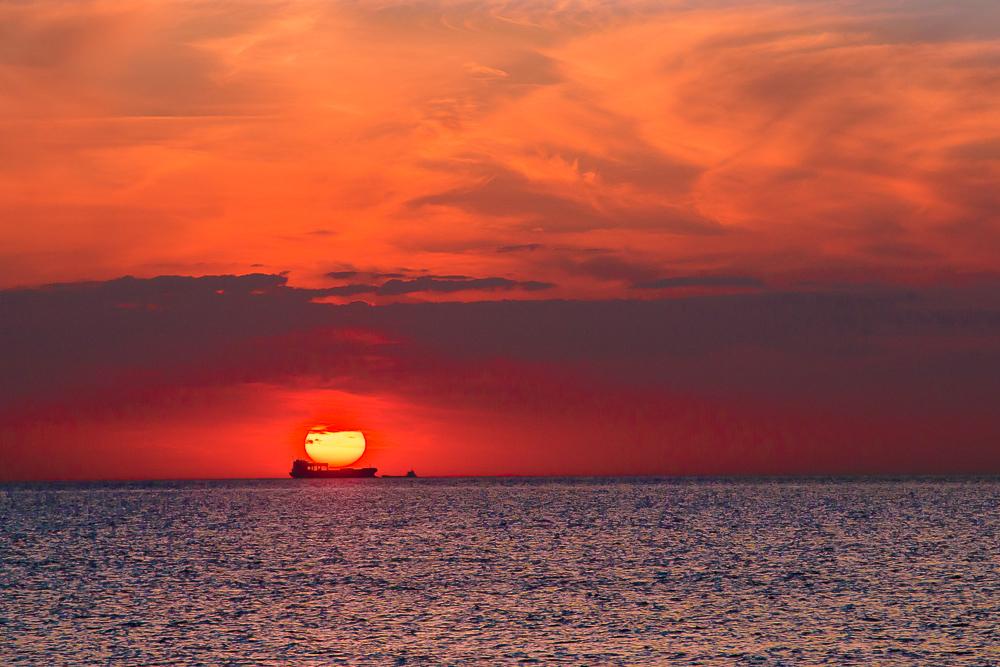 Die Sonne an Bord