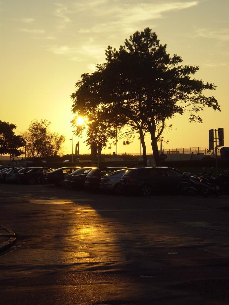 Die Sonne auf der Straße