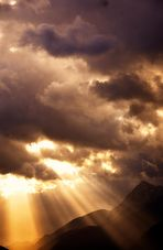 die Sonne bahnt sich ihren Weg