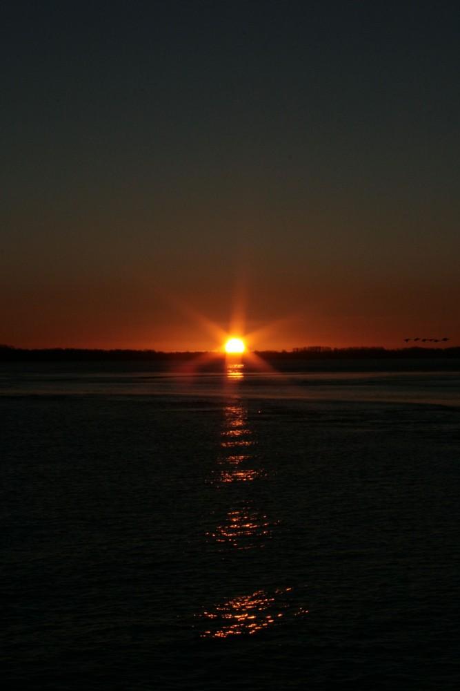 Die Sonne erstrahlt über Schleswig-Holstein