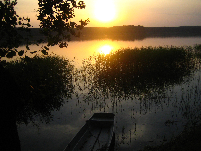 Die Sonne geht baden in Marózeksee in Masuren/Polen_04