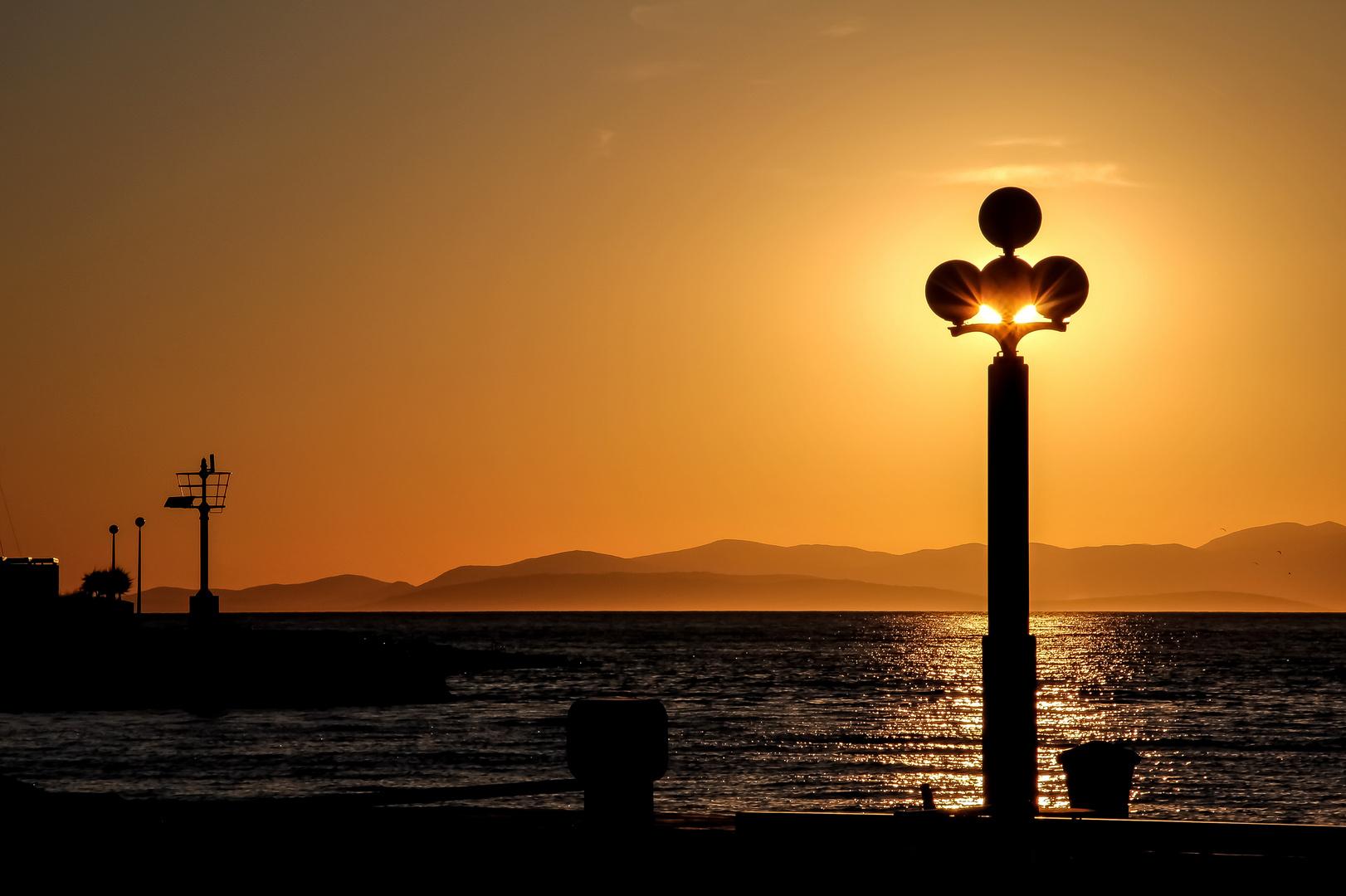 Die Sonne strahlt
