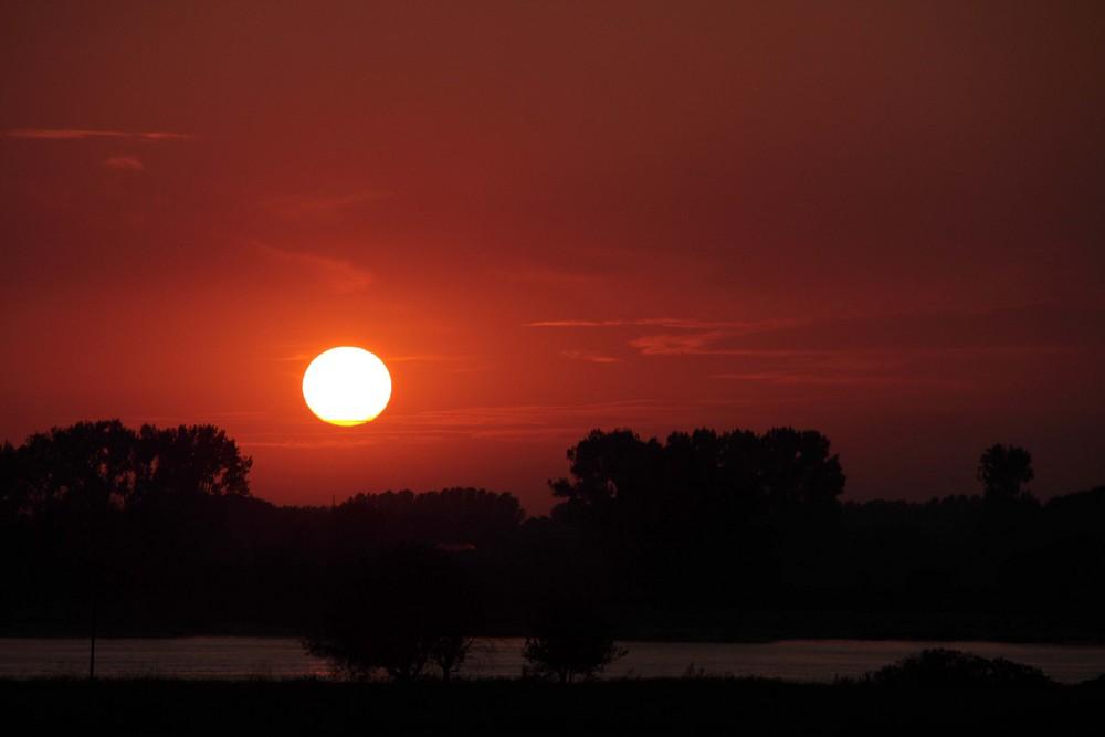 Die Sonne versinkt....