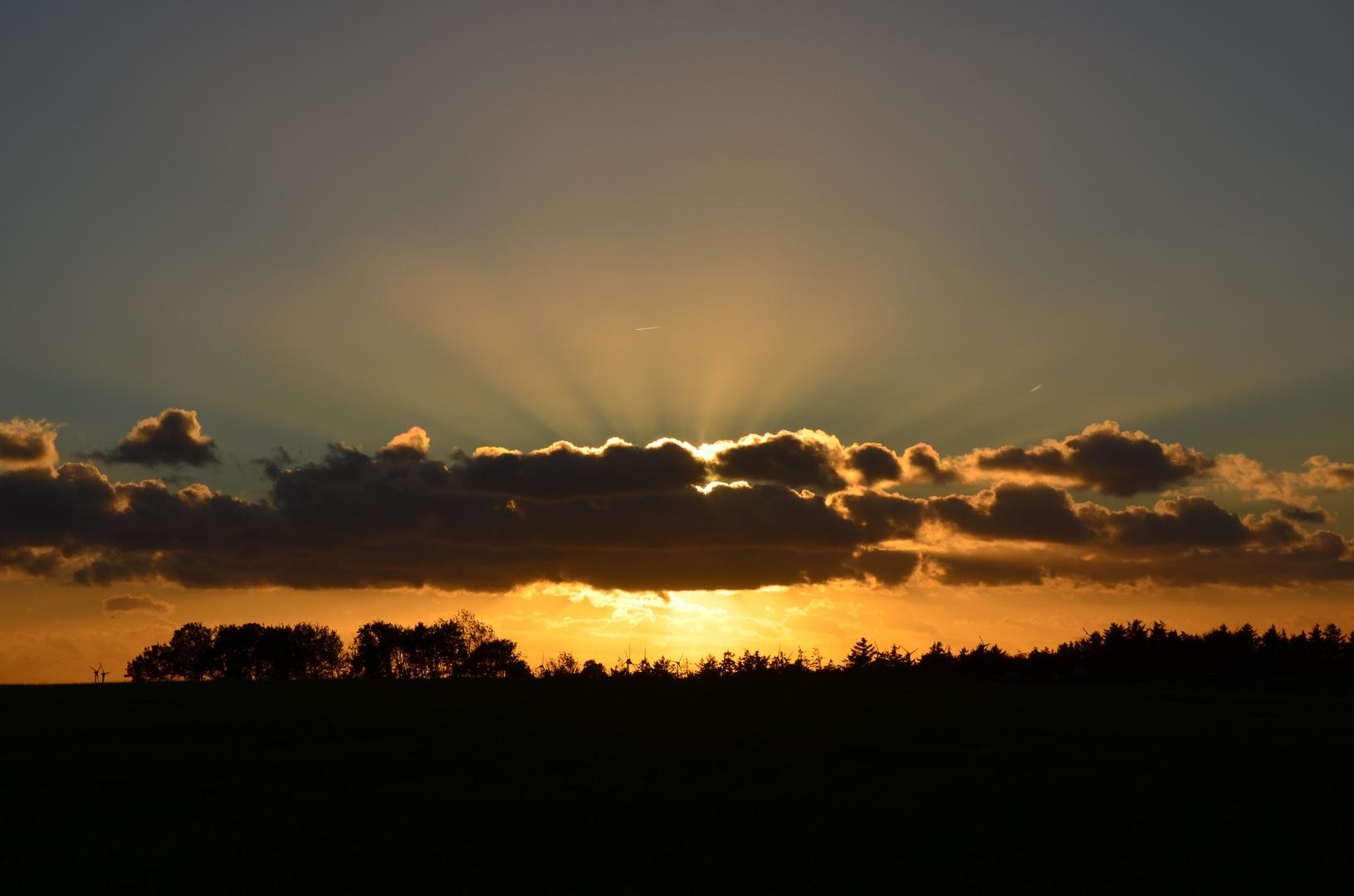 Die Sonne wandert schnell......