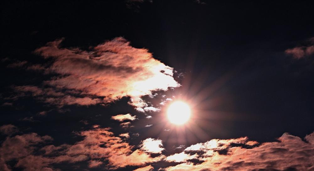 Die Sonnenstrahlen mal verdeutlicht!