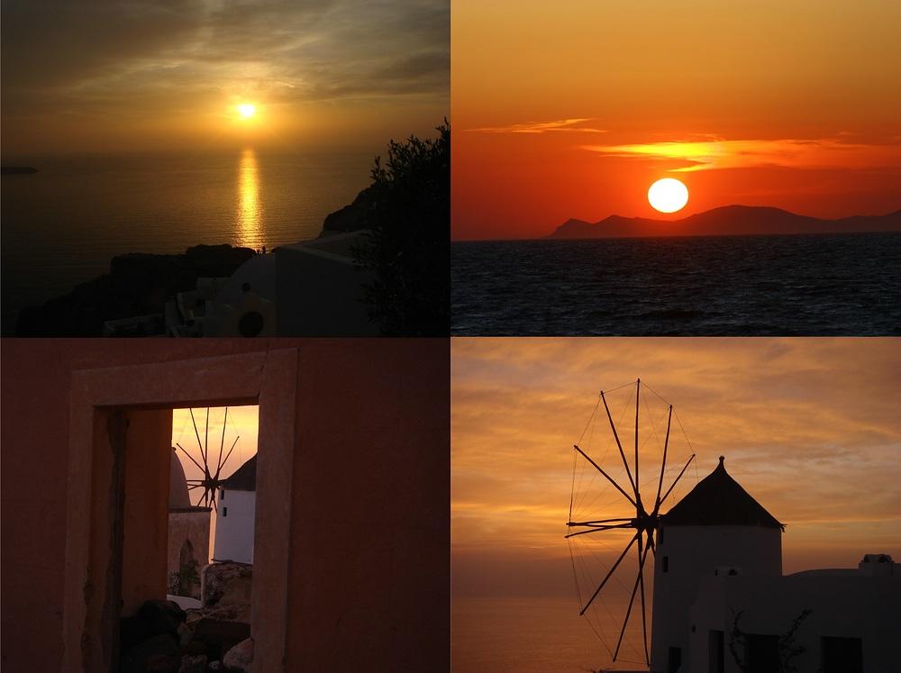Die Sonnenuntergänge von Santorin