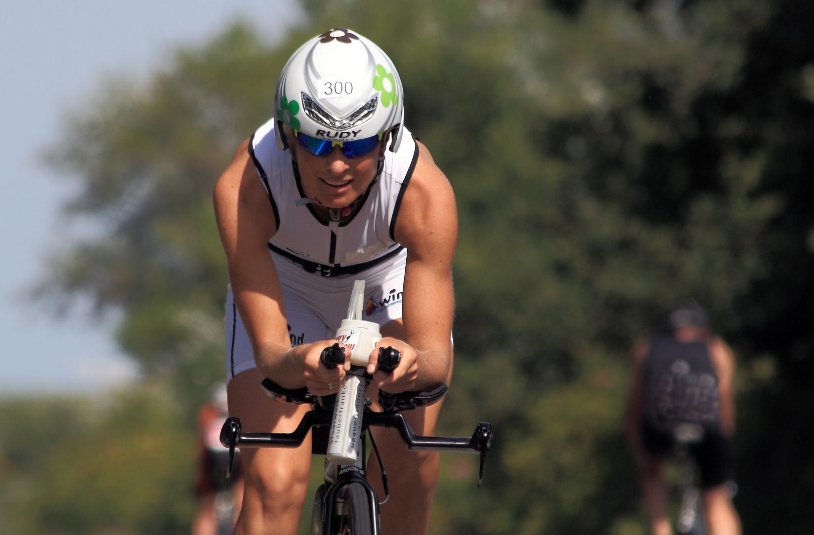 Die spätere Siegerin vom ISLANDMAN - Norderney Triathlon