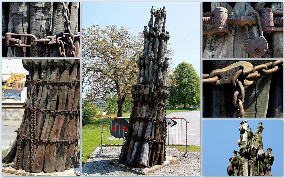 ..die Spargel Skulptur..