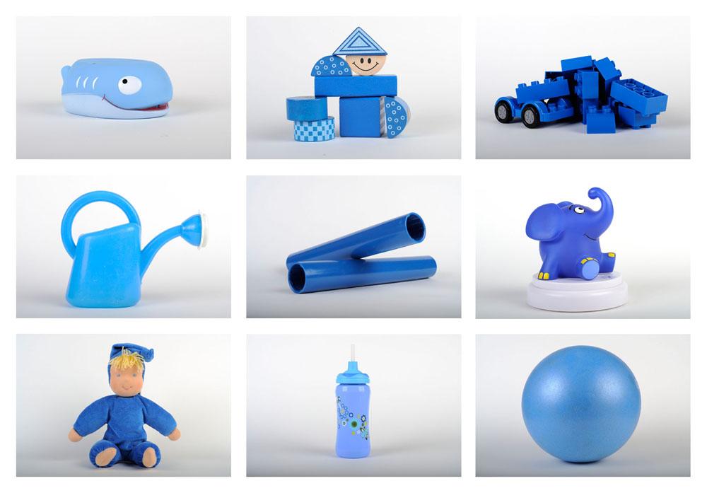 Die Spielsachen meiner Tochter - Monatsthema BLAU