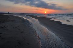 die Spuren im Sand...