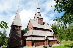 Die Stabkirche in Hahnenklee (Harz)