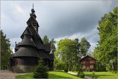 Die Stabkirche von Gol im Norsk Folkemuseum