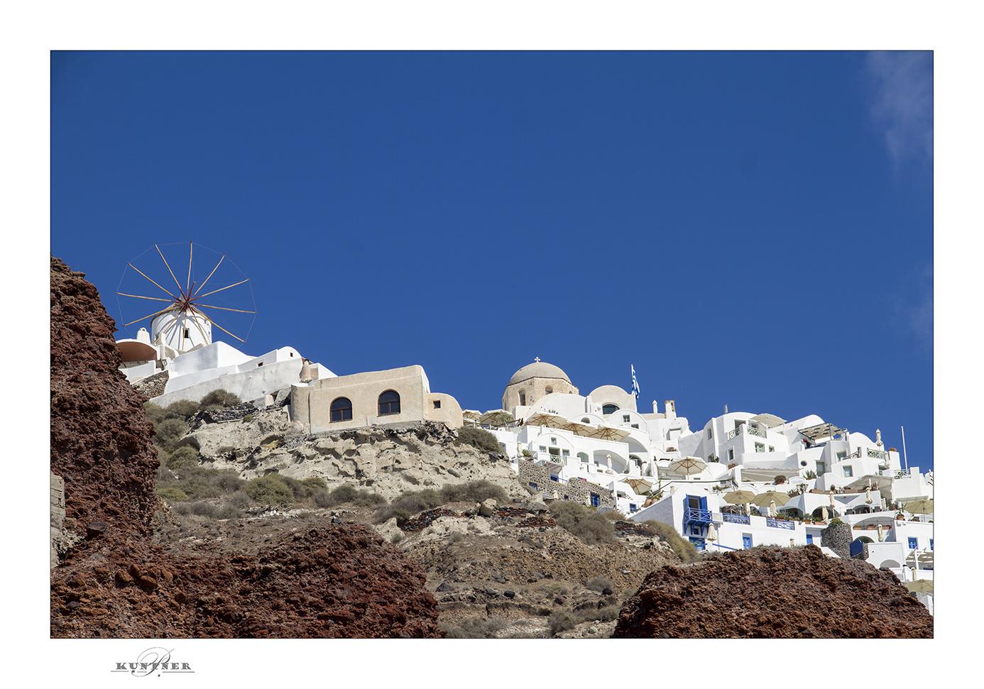 Die Stadt auf dem Vulkan Santorin