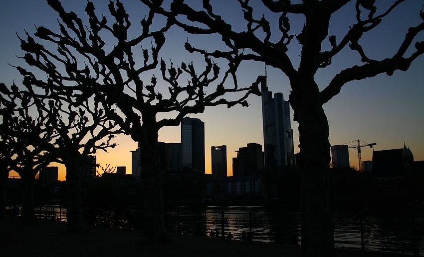 Die Stadt im Abendlicht
