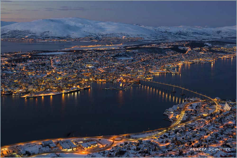 Die Stadt in der Arktis