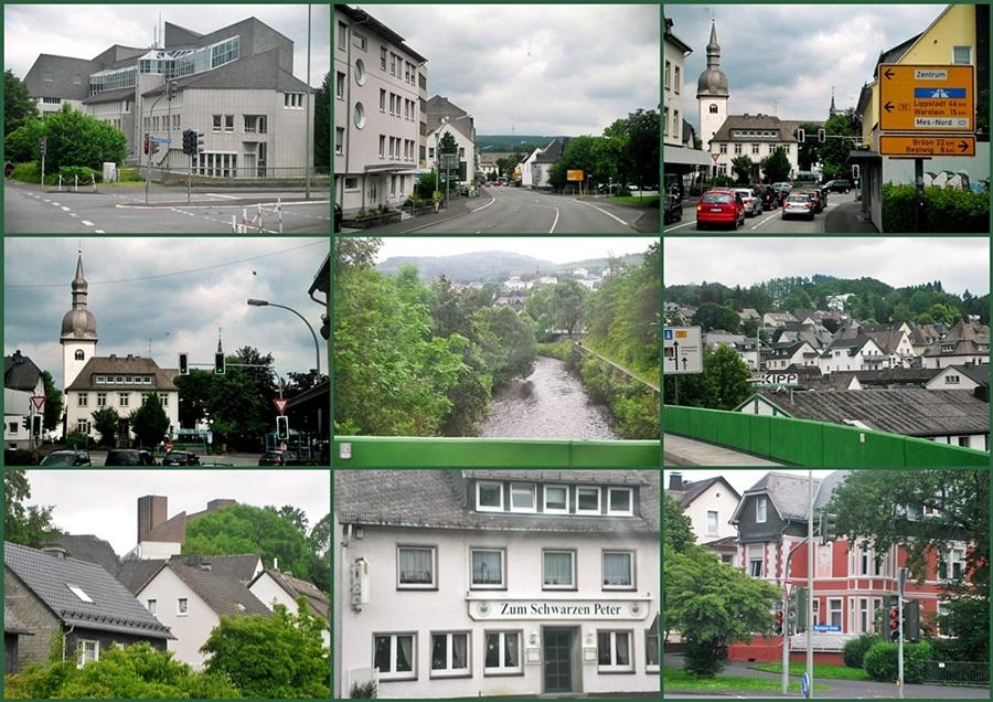 Die Stadt Meschede im Sauerland