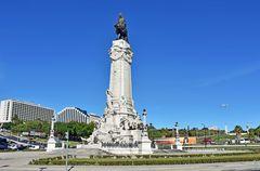 Die Statue des Marques de Pombal in Lissabon
