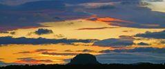 Die Steigerung der Farben kurz vor dem Sonnenaufgang...