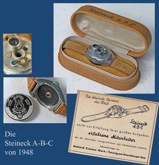 Die Steineck A-B-C Armabnduhr-Kamera von 1949