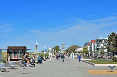 Die Strandpromenade von Warnemünde