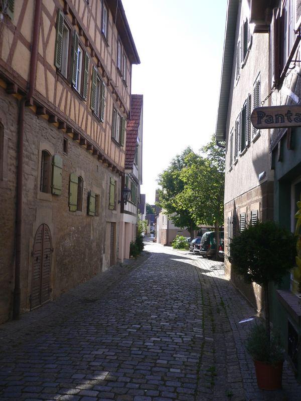 Die Straßen von Marbachs Altstadt