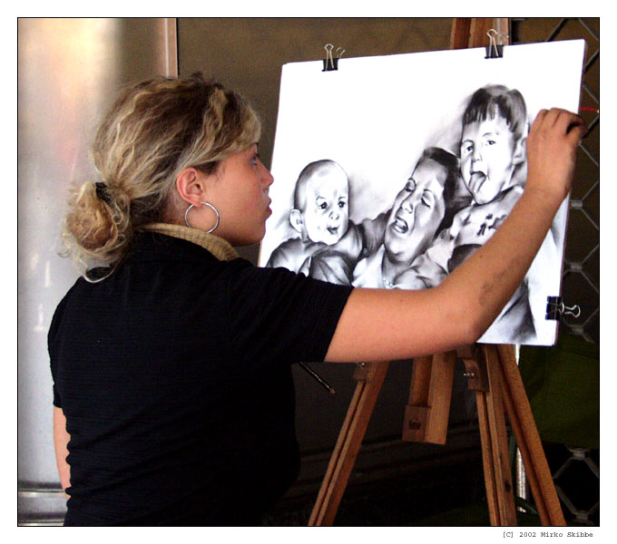 Die Straßenmalerin