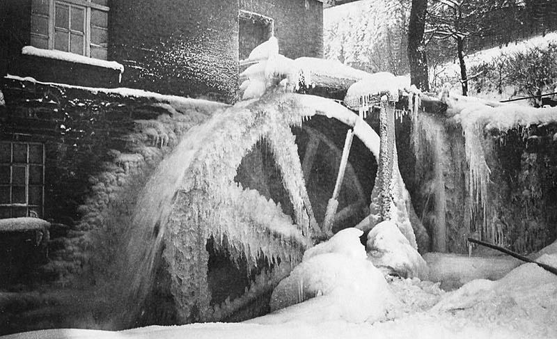 Die Stryck-Mühle im Winter