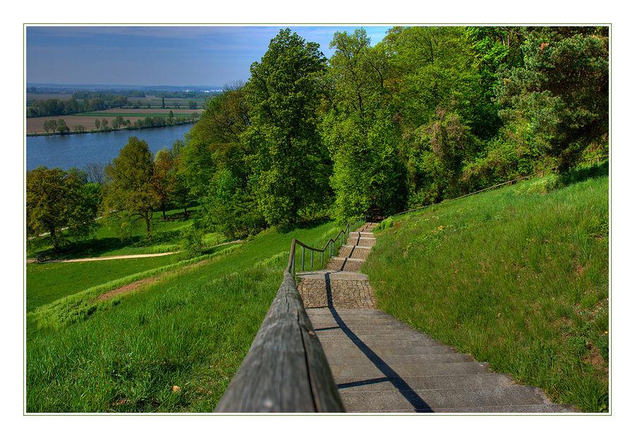 die Stufen in`s Grüne