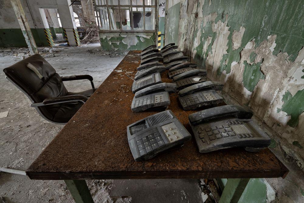 die Telefonzentrale...