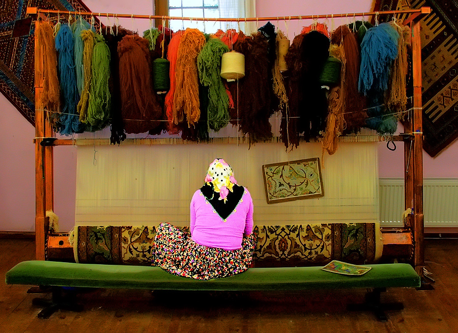 Die Teppichknüpferin