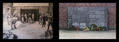 Die Todeswand im KZ Auschwitz