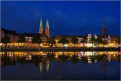 Die Trave in Lübeck