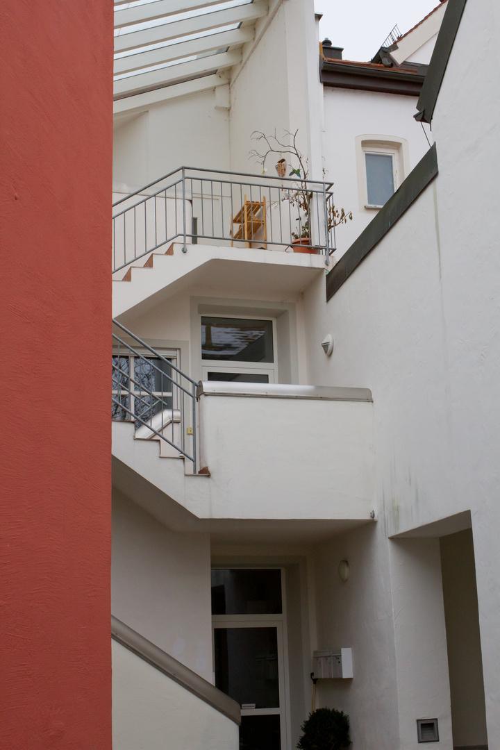 Die Treppe im Hof