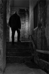 die Treppe im Keller