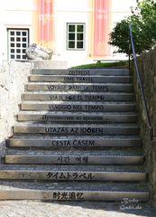 Die Treppe in Hallstatt