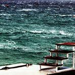 die Treppe zum Meer