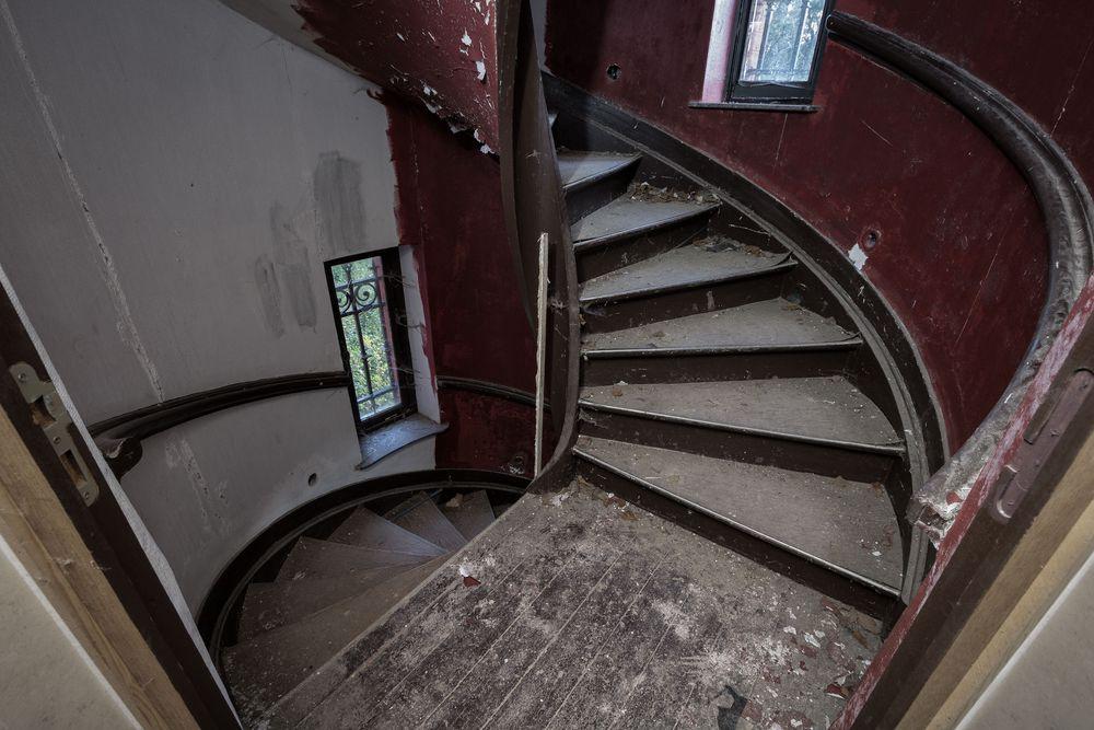 die Turmtreppe...