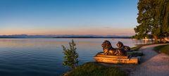 Die Tutzinger Löwen am Starnberger See