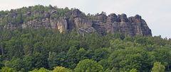 """Die """"Urgewalt"""" der nordöstlichen Felsentürme des Pfaffensteins..."""