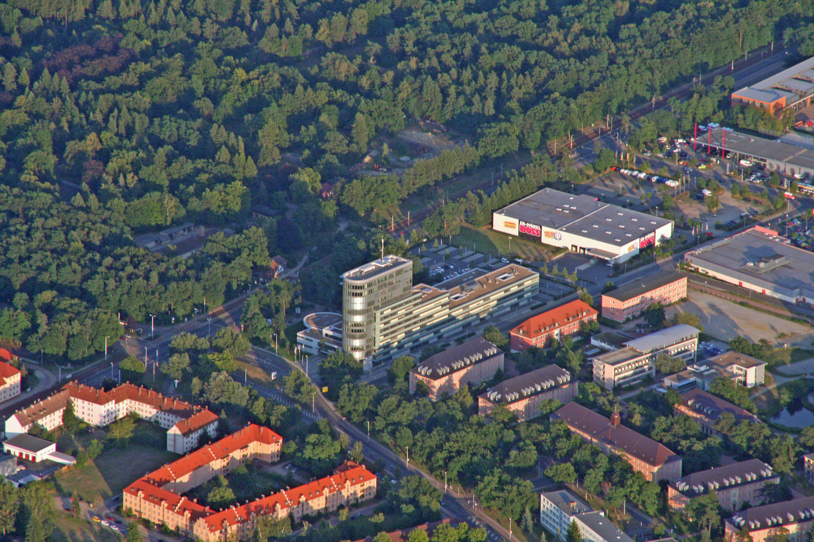 Die Vattenfallverwaltung in Cottbus