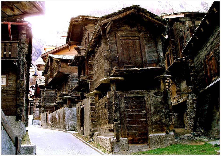 die 'Viehgasse' in Zermatt