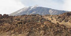 Die vulkanisch geprägte Landschaft rund um den Pico del Teide (Teneriffa, Spanein)