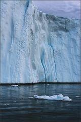 die wand eines eisbergs