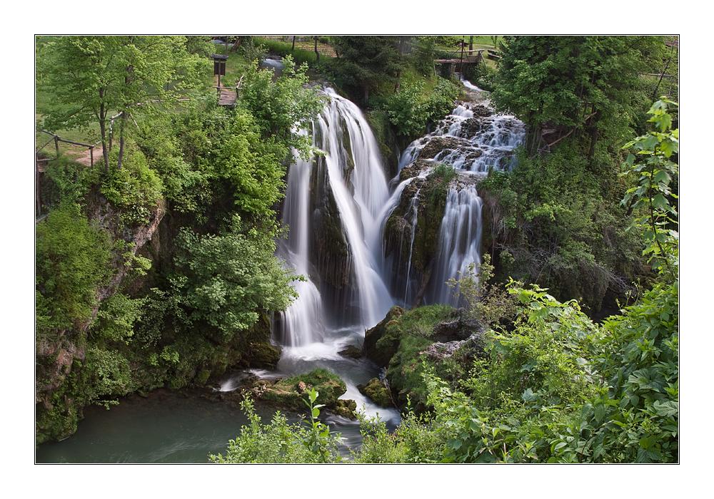 Die Wasserfälle von Rastoke