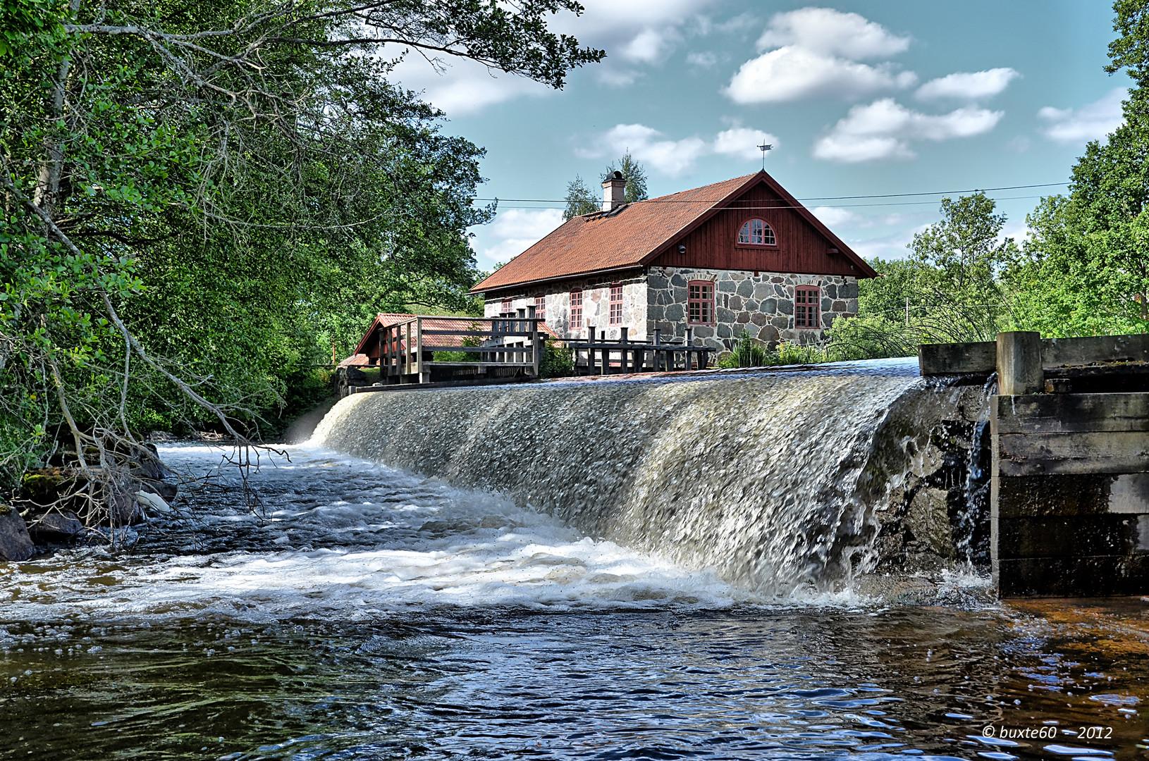 Die Wassermühle in Varetorp